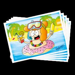 Ansichtkaarten Barry Zwemband